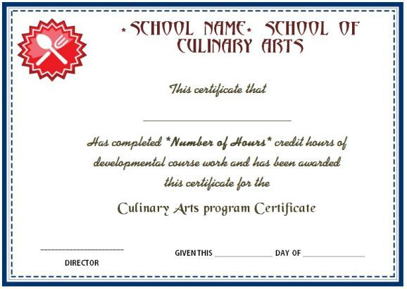 Culinary Arts Program Certificate In 2020 Importance Of