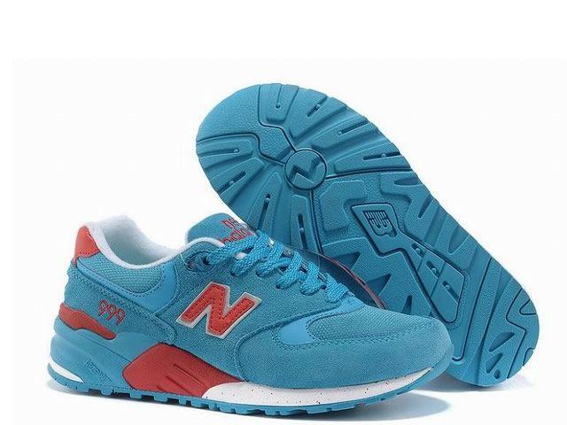 New Balance - 999 - Femme - Bleu/équipe Rouge