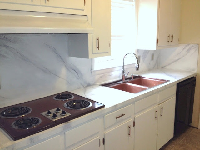 Countertop Paint Tutorial : Diy tutorial. How to paint your countertops. Faux marble. Inexpensive ...