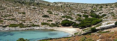 Poros beach.