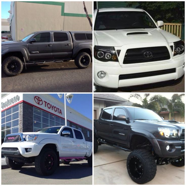 Toyota dark grey!! Dream truck! Halo headlights