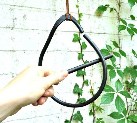 Hand Forged Raindrop Dinner Bell. Garden Bell. Metal Garden Decoration. Summer Entertaining. Cook Out.
