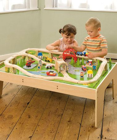 59-Piece Toy Train Set & Table #zulily #zulilyfinds