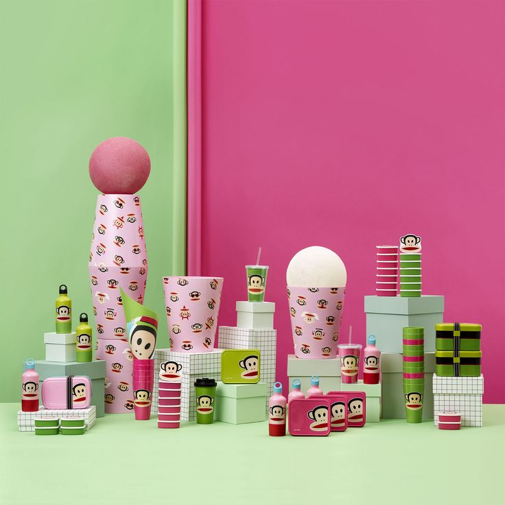 Mix and match the colors with ourPaul Frank collection of products for lunch and storage. Design by Room Copenhagen