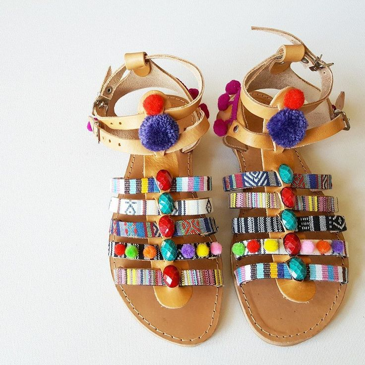 YOH Pocahontas sun-dolls by De.L'art - Greek handmade sandals
