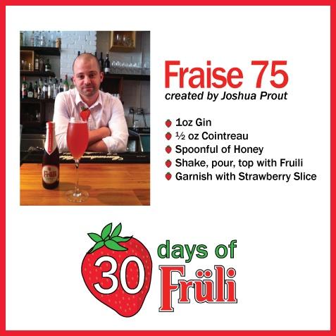 Fruli beer cocktail: Fraise 75