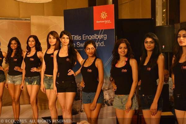 fbb Femina Miss India 2015 finalists being judged at the Switzerland Tourism Miss Photogenic round in Mumbai.