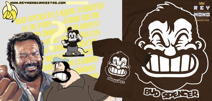 Sólo Pienso En Camisetas: Camiseta Bud Spencer en Rey Mono
