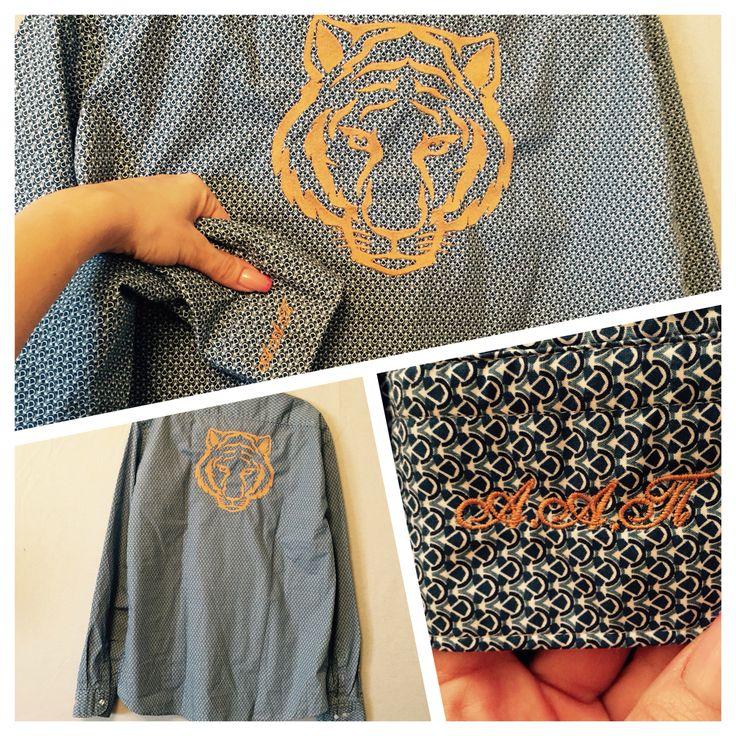 вышивка на рубашке by Lunique