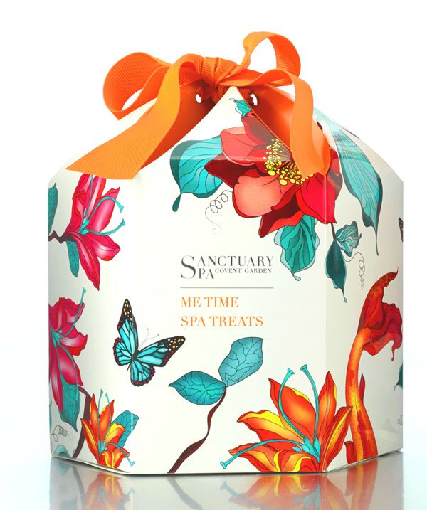 "Packaging - Sanctuary Spa (UK) on Behance; Lovely ""me time"" spa #packaging PD"