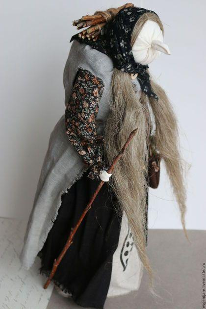 """Народные куклы ручной работы. """"Баба-яга"""" Авторская кукла-образ. Добрые традиции. Ярмарка Мастеров. Русские сказки"""