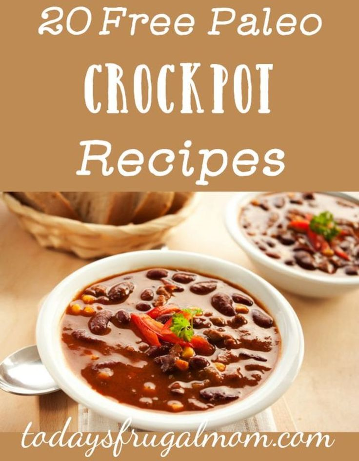 20 Free Paleo Crockpot Recipes :: todaysfrugalmom.com