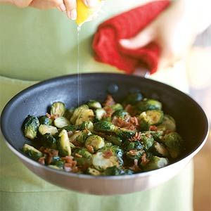 Brussels Sprouts with Crisp Prosciutto | MyRecipes.com