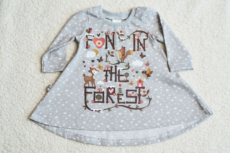 DIY Iron on Baby/Kids Fun in the Forest Animal Theme Vinyl Transfer