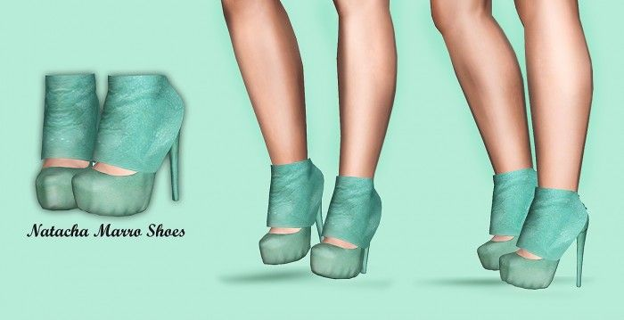 Natacha Marro Mint Shoes by Jewel'n'sims - Free Sims 3 Shoes Downloads JEWELS'N'SIMS Custom Content Caboodle - Best Sims3 Updates and Finds