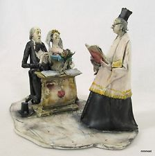 Lo Scricciolo SHOTGUN WEDDING by Toni Moretto Vintage Italian Ceramic Figurine