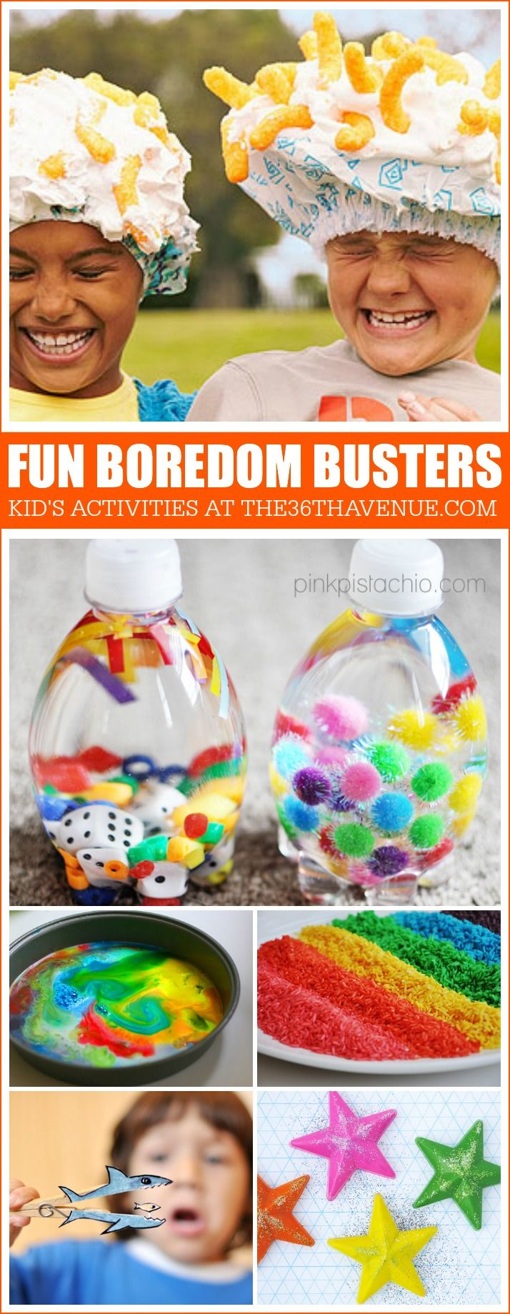 Peel your kids away from the television and have fun with these boredom busters that any kid would enjoy.