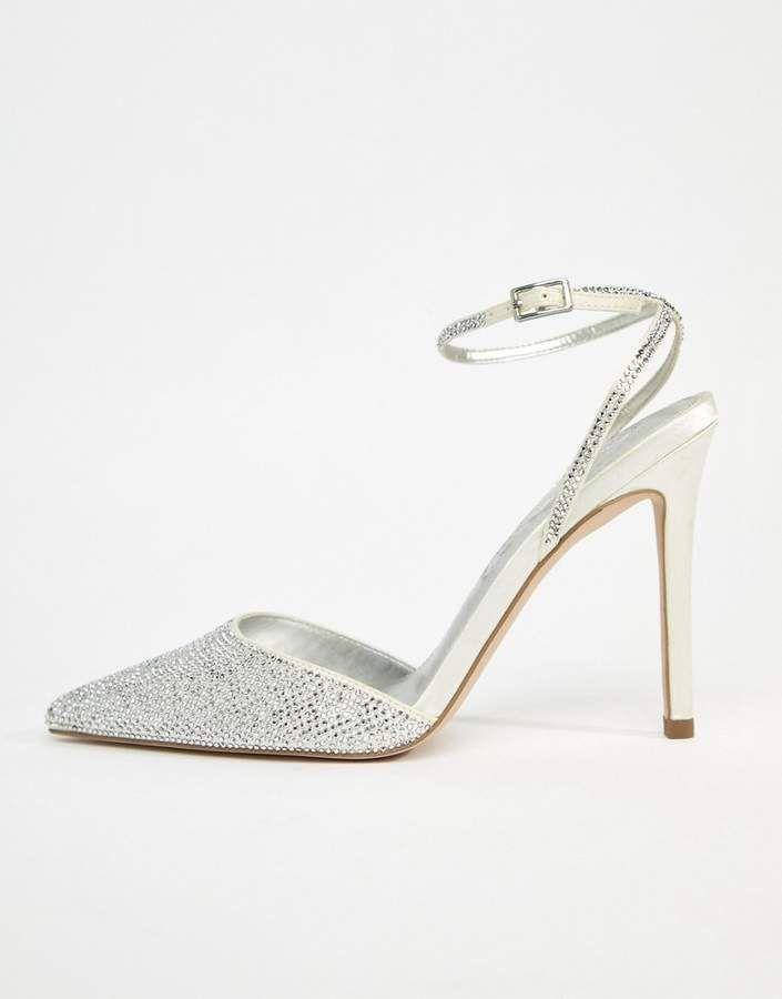 f2145566cbe6 Asos DESIGN Pharaoh bridal embellished high heels  Pharaoh DESIGN Asos