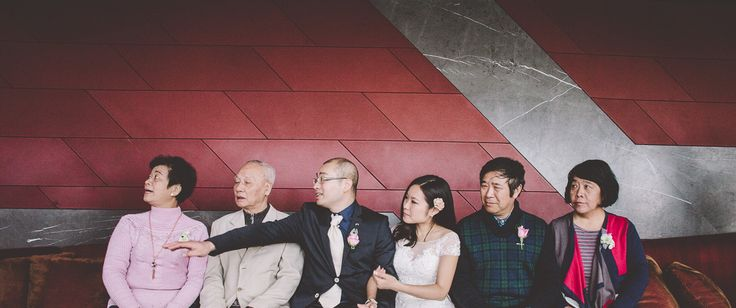 Family picture with a candid twist! Wedding Reception at Eureka 89. Melbourne Wedding Photography.