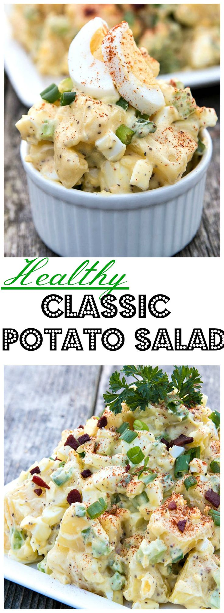 Whip up this Healthy Classic Potato Salad as your next summertime side.