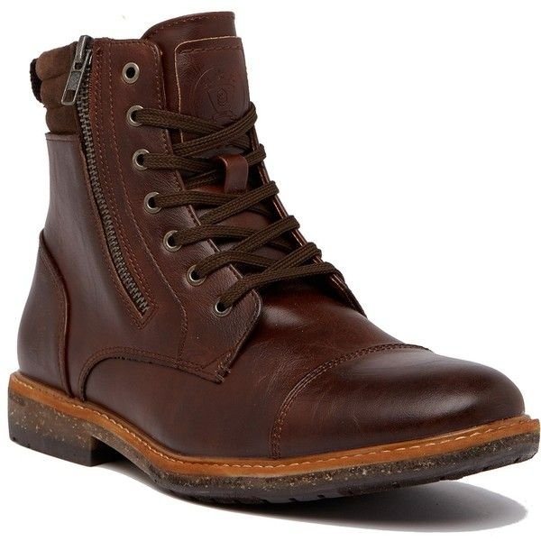 Call It Spring Capocotta Boot (£44) ❤ liked on Polyvore featuring men's fashion, men's shoes, men's boots, mens zip boots, mens fur lined boots, mens round toe cowboy boots, mens goodyear welted shoes and call it spring men's shoes
