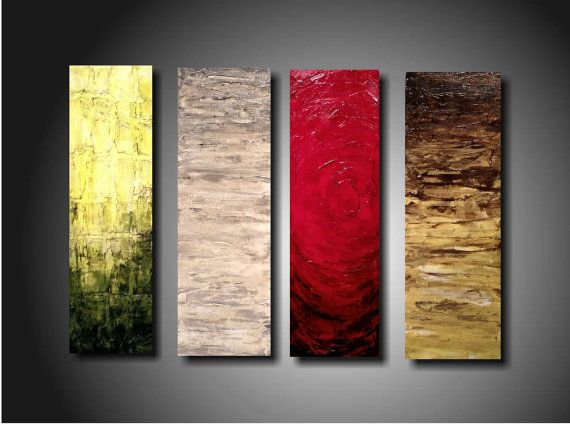 Art original Abstract painting  JMJARTSTUDIO Original 4  Piece Painting 24 Inches X 32 Inches HIGHLY Textured-----Indifference------. $259.00, via Etsy.