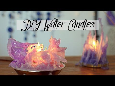 DIY Gothic Water Candles - Frozen inspired - YouTube