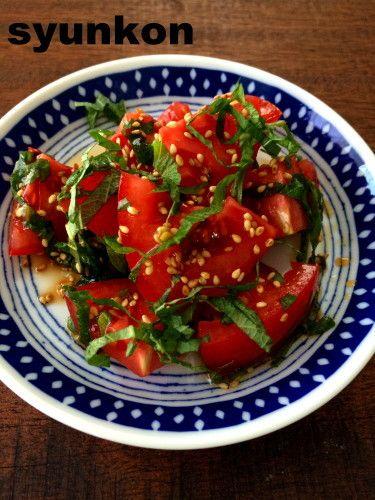 【簡単!!サラダ3種】トマトと大葉のサラダ、焼肉レタスサラダ、ツナポテトサラダのおにぎりプレート |山本ゆりオフィシャルブログ「含み笑いのカフェごはん『syunkon』」Powered by Ameba