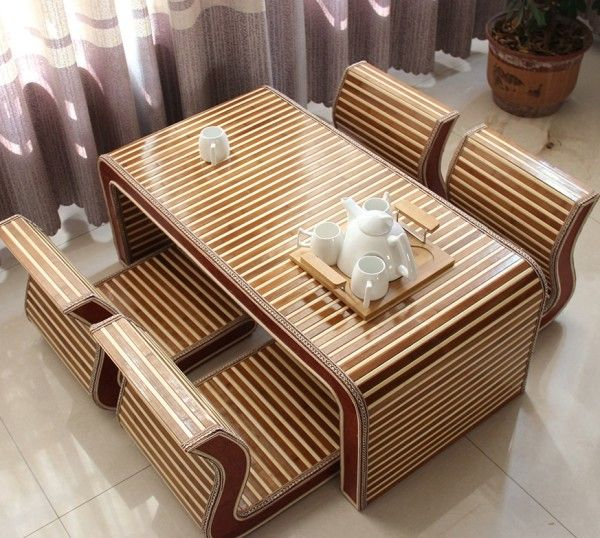 17 mejores ideas sobre mesa de bamb en pinterest for Muebles bambu pdf