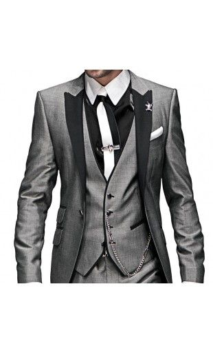 Wedding Suit 692 ONGala. Kind of odd, but I like the color and overcoat. Also, maybe the vest..