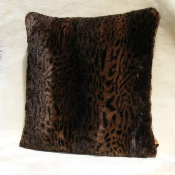 """The finest faux fur you will ever see or touch on both sides of this 16"""" beauty! $60"""