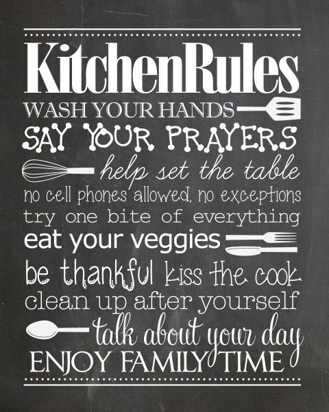 Bathroom Rules Free Printable - How to Nest for Less™