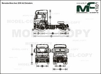 Mercedes-Benz Axor 2036 4x2 Estradeiro - drawing