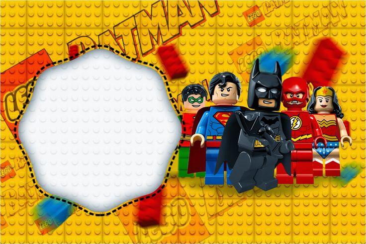 Lego Película: Invitaciones para Imprimir Gratis.                                                                                                                                                     Más
