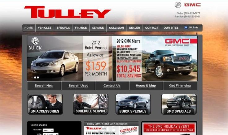 Tulley Buick GMC Website