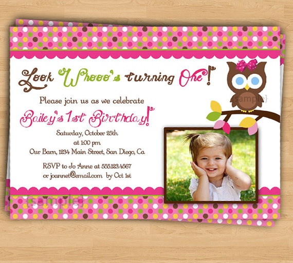 owl party birthday invitation