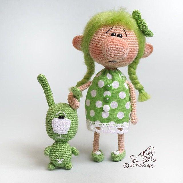 Второй номер - Зелёнка. Я люблю всё зелёное, и эту барышню люблю Дом нашла  #дубоклёпы_куклы ☆
