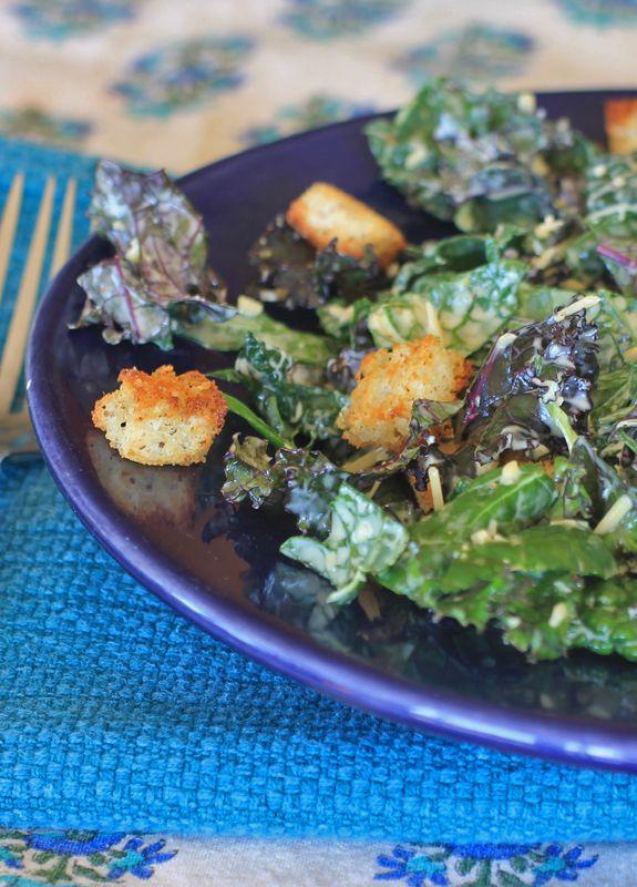 Kale Caesar Salad via E.A. Stewart RD