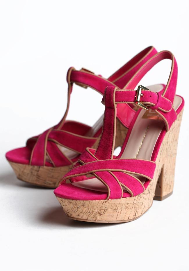 hot pink dolce vita taiga wedge