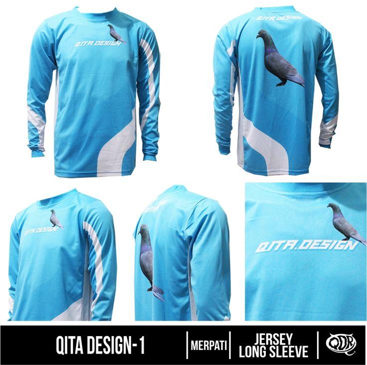 Qita Design-1 (Jersey Merpati) Bahan: Dry-fit printing: sublimasi untuk pemesanan: BBM 543D3DBB Qdr online shop WA/LINE 081222970120