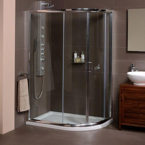 £198.95 AquaFloe 1200 x 800 Offset Shower Cubicle