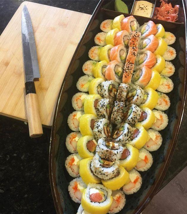 Sushi battle ship   good job @sushipartybogota  Sushi recipes on buff.ly/2vHsWFx Make Sushi http://ift.tt/2flqQnv