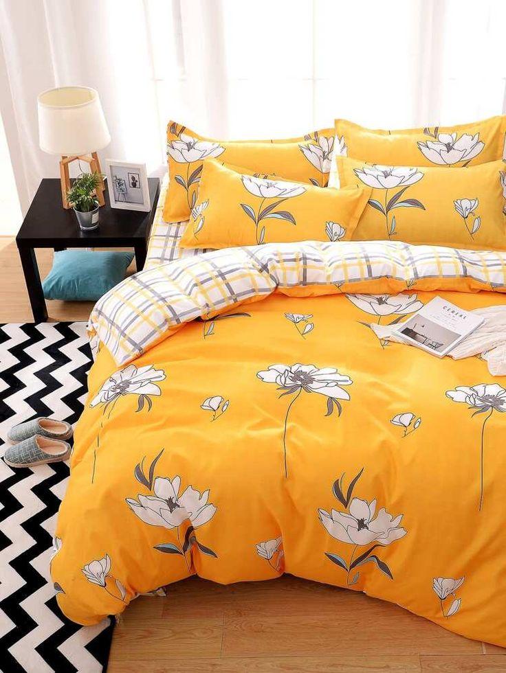 Flower Print Bed Sheet Set in 2020 Bed sheet sets