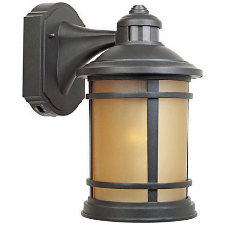 22 best motion sensor coach lamps images on pinterest outdoor find peace of mind with motion sensor outdoor lighting from the sedona collection by designers fountain this cast aluminum outdoor wall light comes in a mozeypictures Images