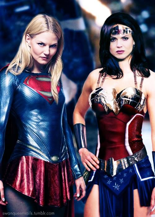 This would be the Best movie EVER!! JMo as Superwoman and Lana as Wonder Woman!! Hell YA!!!