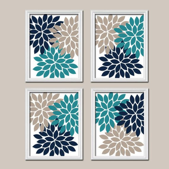 teal wall art teal navy beige wall canvas or prints bedroom 11185