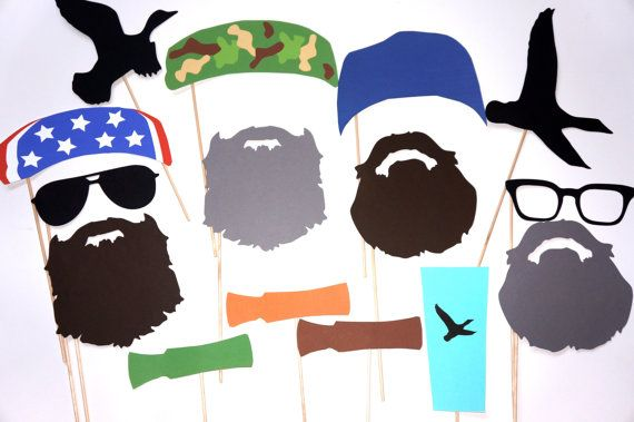 INSTANT DOWNLOAD - Printable Duck Hunter Prop Set - Set of 22 Photo Booth Props ~ Includes 7 Mystery Props ~ {PLUS} Free Photo Booth Sign