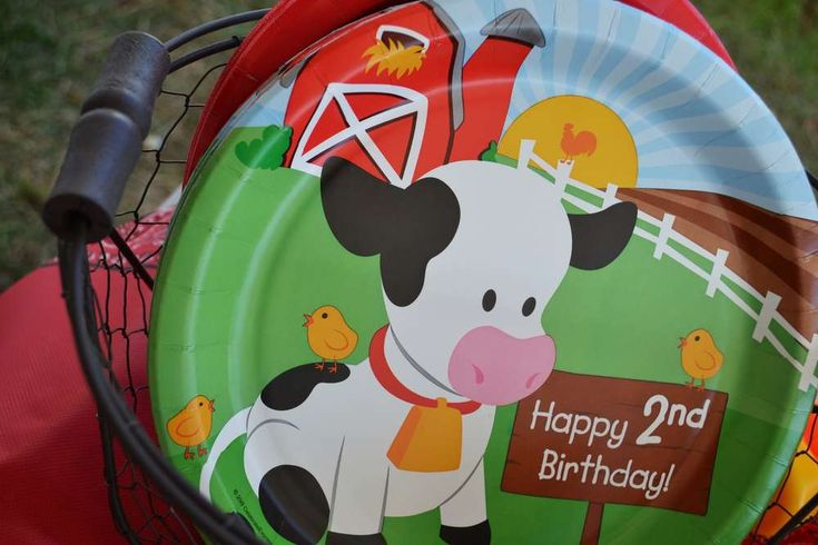 MOO! MOO!  Makenna's TWO!   CatchMyParty.com #BarnyardParty #FarmParty #Cows #Target