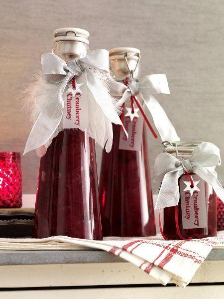 Cranberry-Chutney kann man ganz leicht selbermachen u. ist eine tolle Geschenkidee für liebe Freunde!