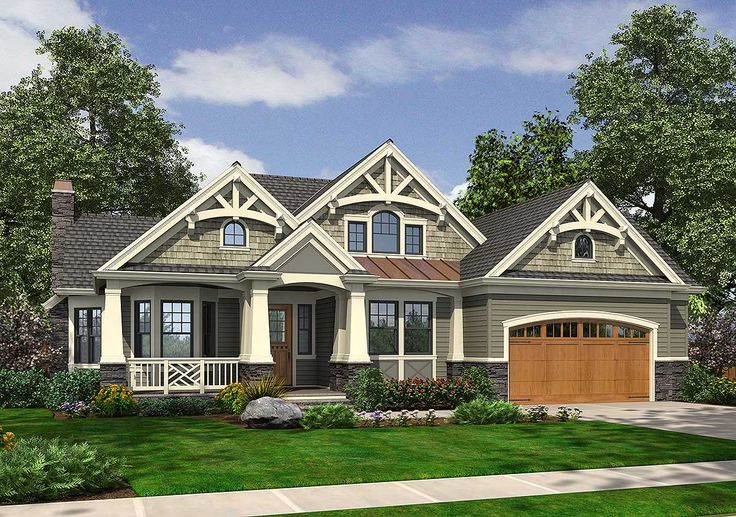 Best 20 rambler house plans ideas on pinterest ranch for Craftsman house plans with bonus room